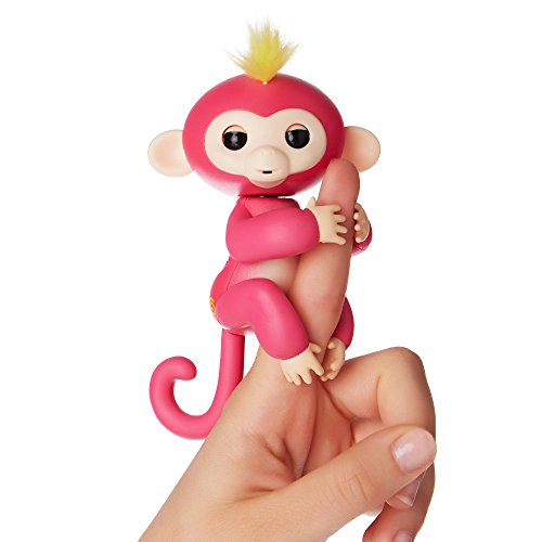 WowWee Fingerlings – Interactive Baby Monkey – Bella (Pink with Yellow Hair) By WowWee