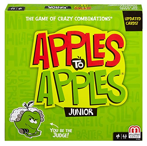 Mattel Games Apples to Apples Junior – The Game of Crazy Comparisons (Packaging May Vary)