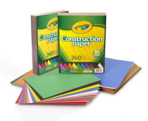 Crayola Bulk Construction Paper, Back To School Supplies, 10 Colors, 480Count