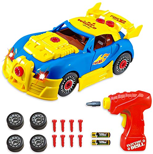 Think Gizmos Take Apart Toy Racing Car – Construction Toy Kit for Boys and Girls Aged 3 4 5 6 7 8 – Build Your Own Car Kit Version 3 STEM Toy