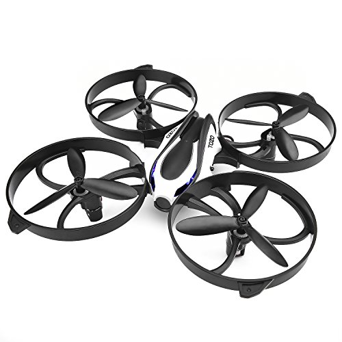 TOZO Q2020 Drone RC Mini Quadcopter Altitude Hold Height Headless RTF 3D 6-Axis Gyro 4CH 2.4Ghz Helicopter Steady Super Easy Fly for Training [Black]