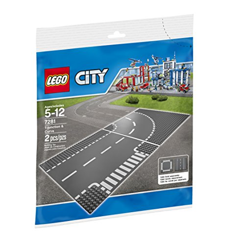 LEGO City Town T-Junction and Curve Plate 7281 Building Kit