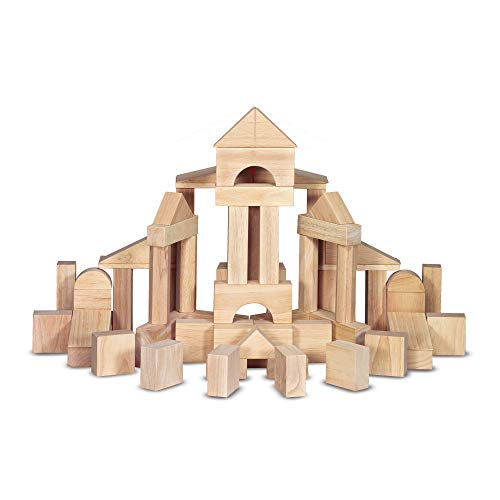 Melissa & Doug Standard Unit Solid-Wood Building Blocks with Wooden Storage Crate (Developmental Toy, 60 pieces, Great Gift for Girls and Boys – Best for 3, 4, 5, 6, 7, and 8 Year Olds)