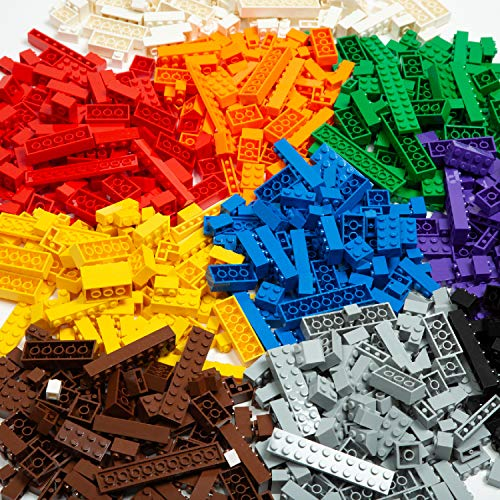 Play Platoon Building Bricks – Regular Colors – 1,000 Pieces Classic Bricks – Compatible with All Major Brands