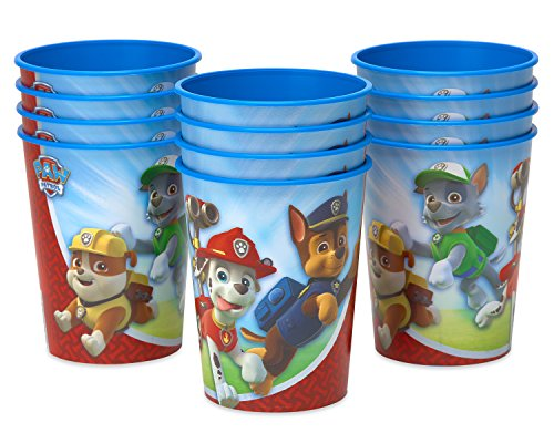 American Greetings 581462 Paw Patrol Party Supplies, 16 oz. Reusable Plastic Stadium Cup, 12-Count