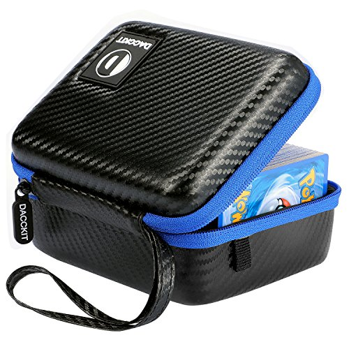 D DACCKIT Carrying Case Compatible with Pokemon Cards – Fits Up to 400 Cards, Card Holder with Hand Strap and Carabiner
