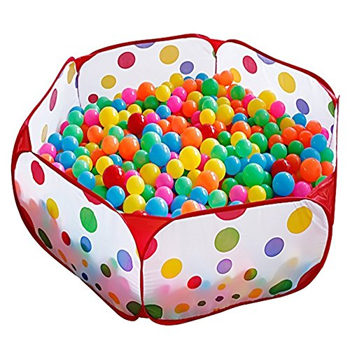 KUUQA Kids Ball Pit Pool Play Tent with Zippered Storage Bag for Toddlers, Pets 3.28Ft (Balls not Included)