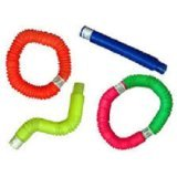 Poof Slinky Pop Toob Set of Six (Colors May Vary) Basic Color