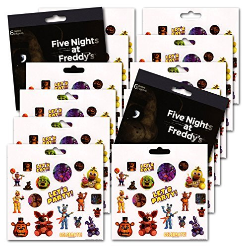 Five Nights at Freddy's Party Favors – Bundle of 12 Sheets 240+ Stickers!