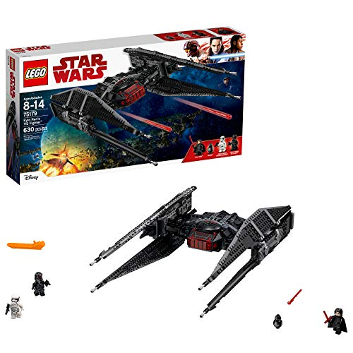 LEGO Star Wars Episode VIII Kylo Ren's Tie Fighter 75179 Building Kit, TIE Silencer Model and Popular Gift for Kids (630 Pieces)